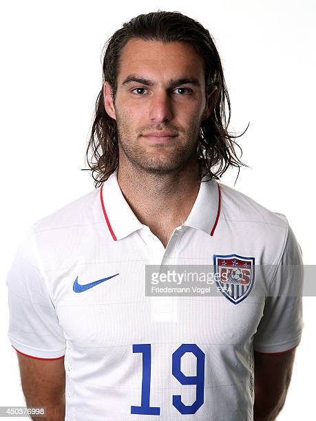 Graham Zusi poses during the Official FIFA Worl Cup 2014 portrait session on June 9, 2014 in Sao Paulo, Brazil.