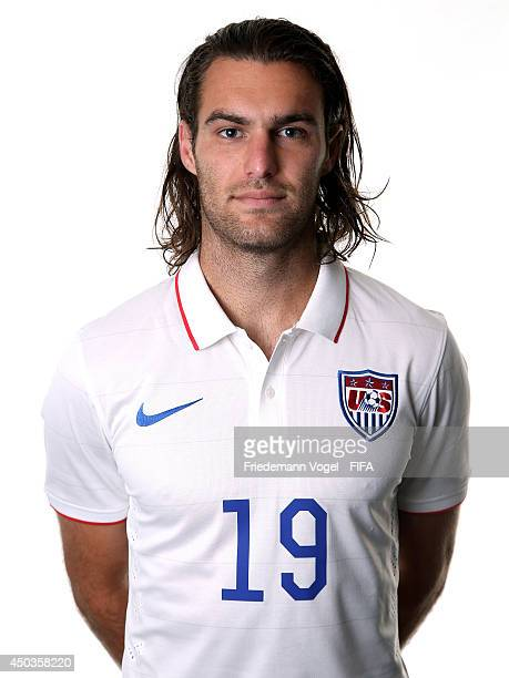 Graham Zusi poses during the official FIFA World Cup 2014 portrait session on June 9, 2014 in Sao Paulo, Brazil.