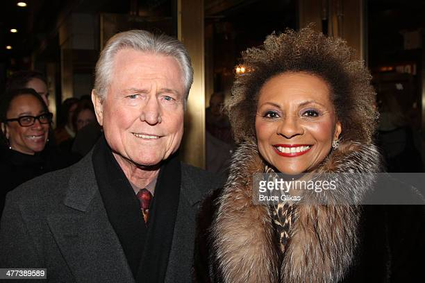 Grahame Pratt and Leslie Uggams attend the opening night of All The Way on Broadway at The Neil Simon Theatre on March 6 2014 in New York City
