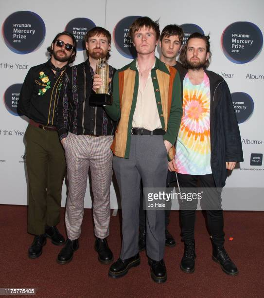 Grain Chatten, Carlos O'Connell, Conor Curley, Tom Coll, Conor Deegan of Fontaines D.C. Attend the Hyundai Mercury Prize: Albums of the Year at...