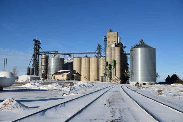 Grain elevator at Onida, South Dakota, USA