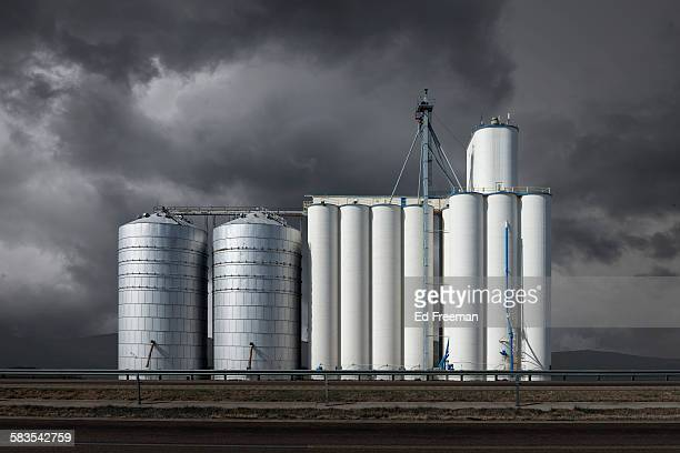 Grain Elevator in a Small Texas Town