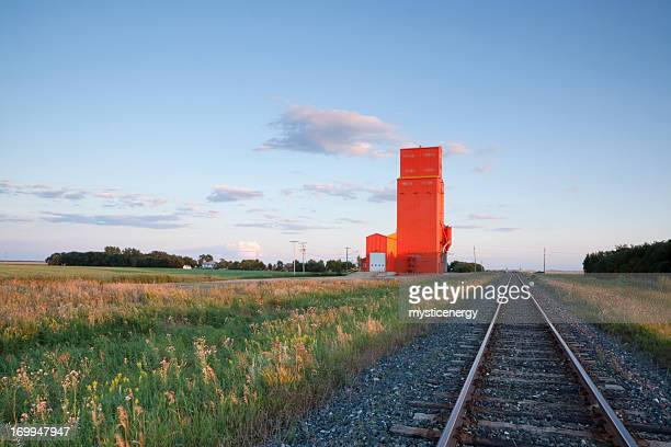 grain elevator - manitoba stock pictures, royalty-free photos & images