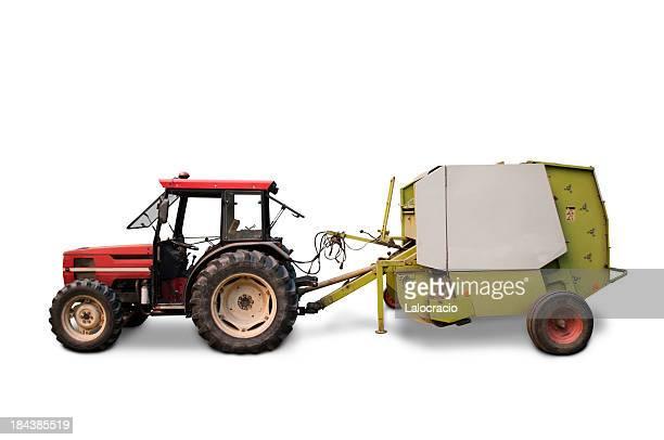 grain farm tractor - tractor stockfoto's en -beelden