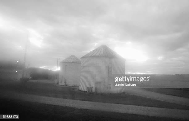Grain silos are seen October 16 2004 near Wakefield Ohio