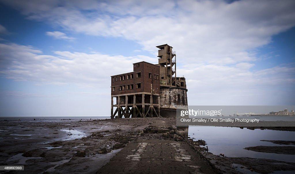 Grain Tower Battery, Isle of Grain. : Stock Photo