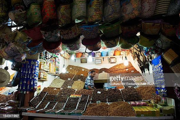 Grains for sale in market