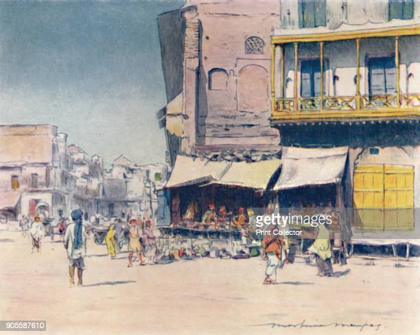 'Grainsellers' 1905 From India by Mortimer Menpes Text by Flora A Steel [Adam Charles Black London 1905] Artist Mortimer Luddington Menpes