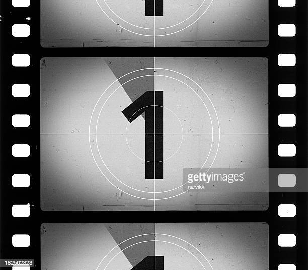 grainy film frame countdown - movie photos stock pictures, royalty-free photos & images