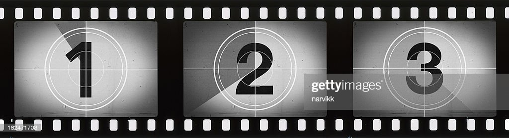 Grainy Film Frames Countdown : Stock Photo