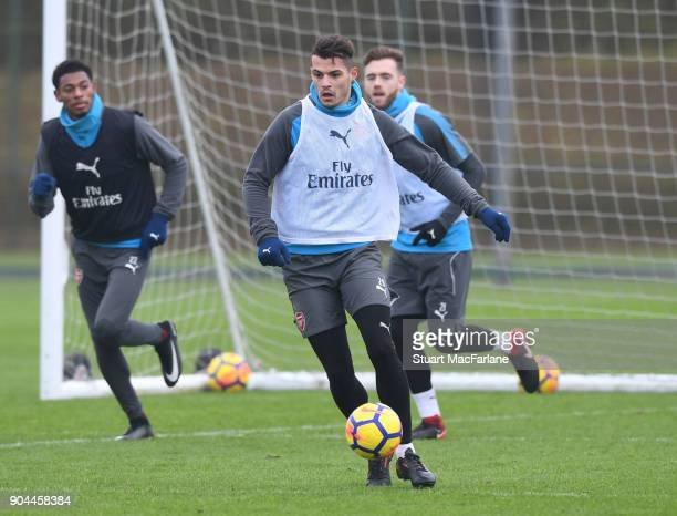 Grait Xhaka of Arsenal during a training session at London Colney on January 13 2018 in St Albans England