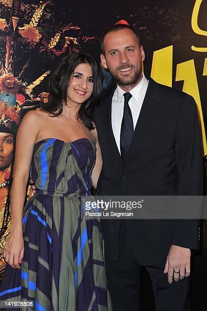 Géraldine Nakache and Fred Testot attend 'Sur La Piste Du Marsupilami' Premiere at Gaumont Champs Elysees on March 26 2012 in Paris France