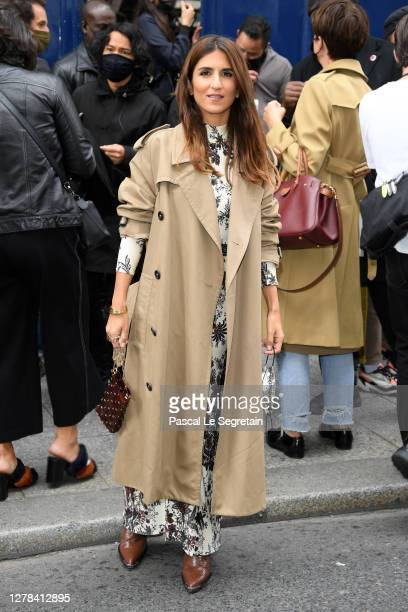 Géraldine Nakache attends the Paco Rabanne Womenswear Spring/Summer 2021 show as part of Paris Fashion Week on October 04, 2020 in Paris, France.