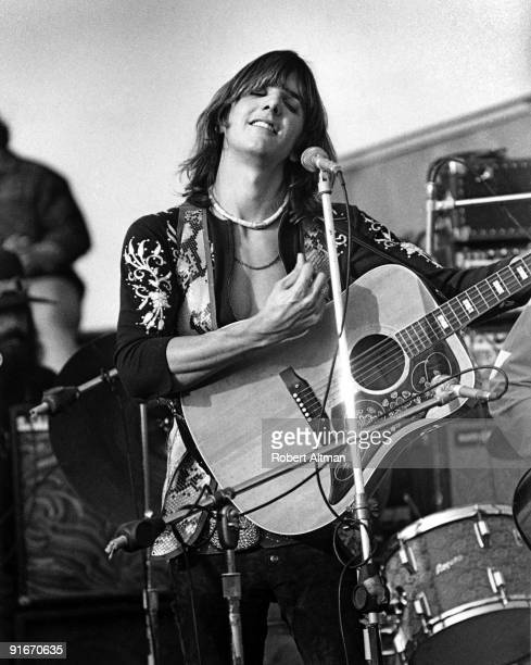 Gram Parsons of The Flying Burrito Brothers performs onstage at The Altamont Speedway on December 6 1969 in Livermore California