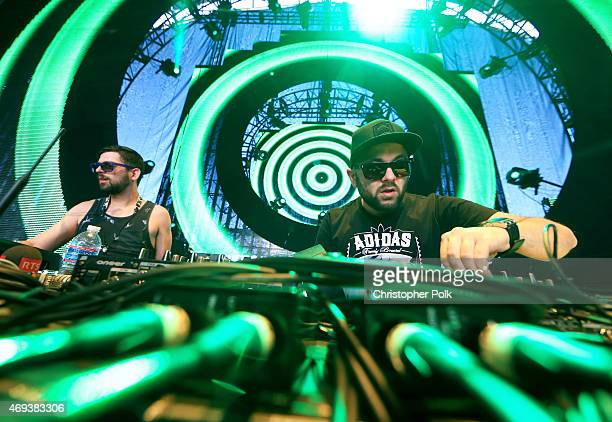 Gramatik performs onstage during day 2 of the 2015 Coachella Valley Music Arts Festival at the Empire Polo Club on April 11 2015 in Indio California