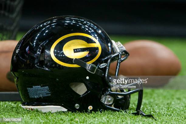 Grambling State Helmet sits on the sideline during the 45th annual State Farm Bayou Classic game between the Southern Jaguars and the Grambling State...