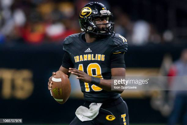 Grambling State Tigers quarterback Geremy Hickbottom steps back to pass during the 45th annual State Farm Bayou Classic game between the Southern...