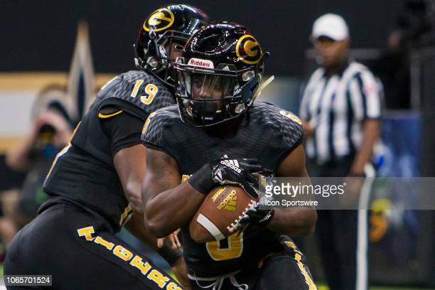 Grambling State Tigers wide receiver Lyndemian Brooks receives the ball during the 45th annual State Farm Bayou Classic game between the Southern...