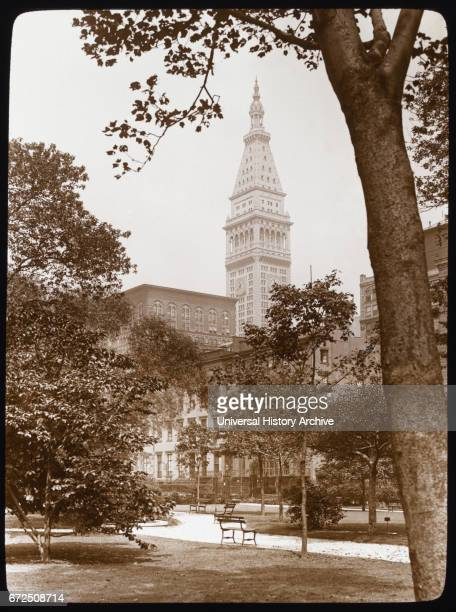 Gramercy Park with View of Metropolitan Life Insurance Company Tower in Background New York City New York USA by Frances Benjamin Johnson 1922
