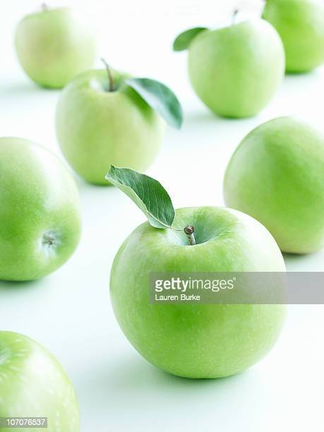 Grammu Smith Apples with Leaves