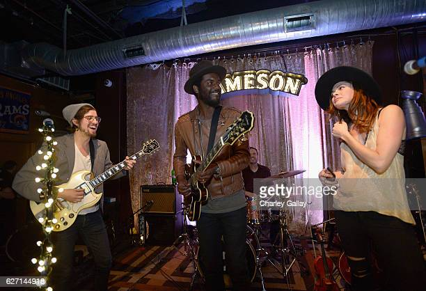 Grammy Award winner Gary Clark Jr and HONEYHONEY perform celebrating the launch of Jameson Music at The Down Out on December 1 2016 in Los Angeles...