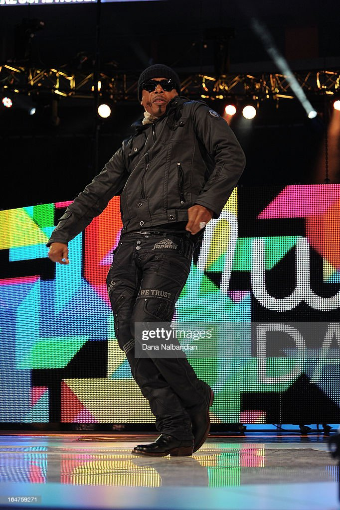 Grammy Award winner MC Hammer takes the stage to inspire and ignite the passion to change the world with a of 15,000 youth at the first ever We Day in the U.S. on March 27, 2013 at KeyArena at Seattle Center.