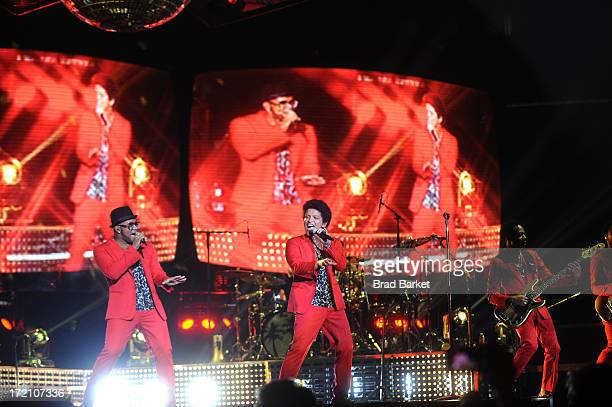 Grammy Award winner Platinum record producer and artist Bruno Mars performs at Prudential Center on July 1 2013 in Newark New Jersey