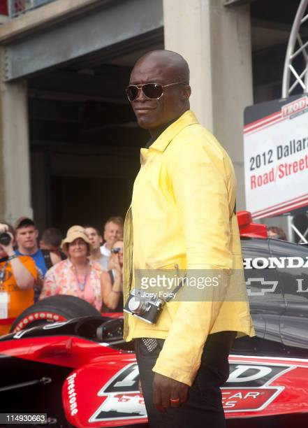 Grammy Award winner Seal attends the 100th Anniversary Indianapolis 500 at Indianapolis Motor Speedway on May 29 2011 in Indianapolis Indiana