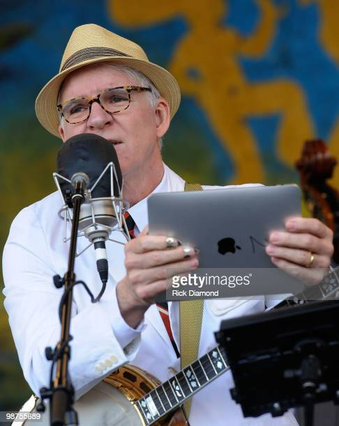 Grammy Award Winning Recording Artist Steve Martin with the Steep Canyon Rangers perform at the 2010 New Orleans Jazz & Heritage Festival Presented...