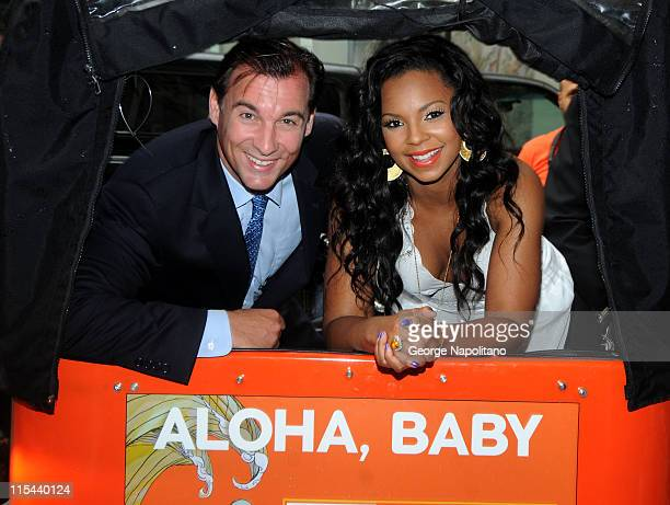 Grammy Award winning singer/songwriter, actress and author Ashanti and Nassau County executive Tom Suozzi attend the launch of Nassau County's...