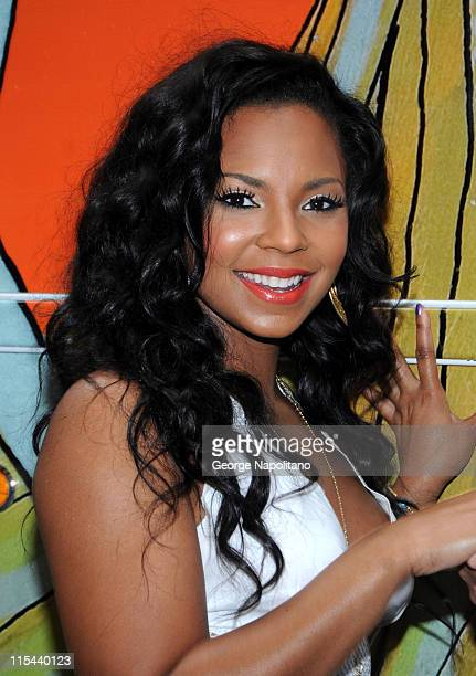 Grammy Award winning singer/songwriter, actress and author Ashanti attends the launch of Nassau County's tourism campaign at the Top of the Rock on...