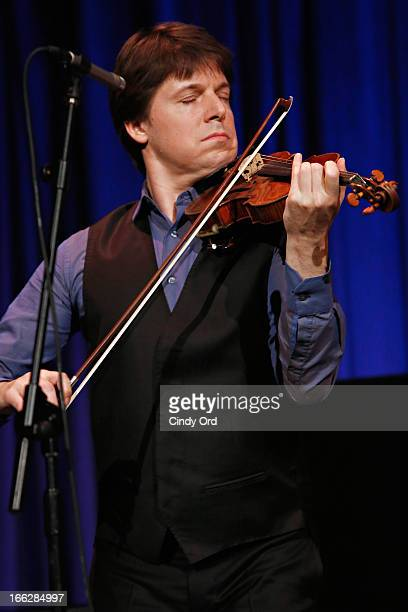 Grammy Award winning violinist Joshua Bell performs during the 2013 Education Through Music Benefit Gala at Cipriani 42nd Street on April 10 2013 in...