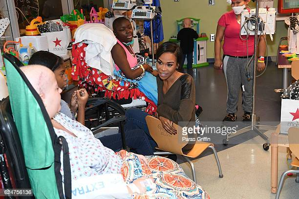 Grammy Awardwinning artist and actress Michelle Williams visited young patients at the Aflac Cancer and Blood Disorders Center in the Children's...