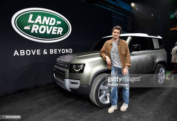 Grammy Award-winning artist and Defender enthusiast John Mayer attends the North American debut of the new Land Rover Defender at Rolling Greens Los...