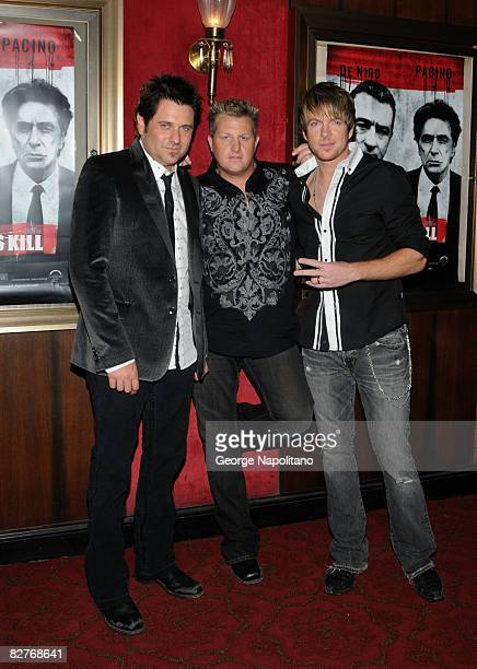 Grammy Awardwinning country music group Rascal Flatts attends the New York premiere of 'Righteous Kill' at the Ziegfeld Theater on September 10 2008...