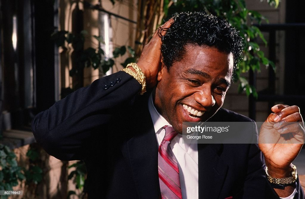 Grammy Award-winning gospel and soul singer, Al Green, poses during a 1989 Los Angeles, California, photo portrait session. Green first hit music gold with his 1972 album 'Let's Stay Together.'