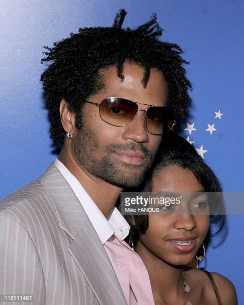 Grammy Jam honors Stevie Wonder in Los Angeles United States on December 10 2005 Eric Benet and daughter at the Grammy Jam event honoring Stevie...