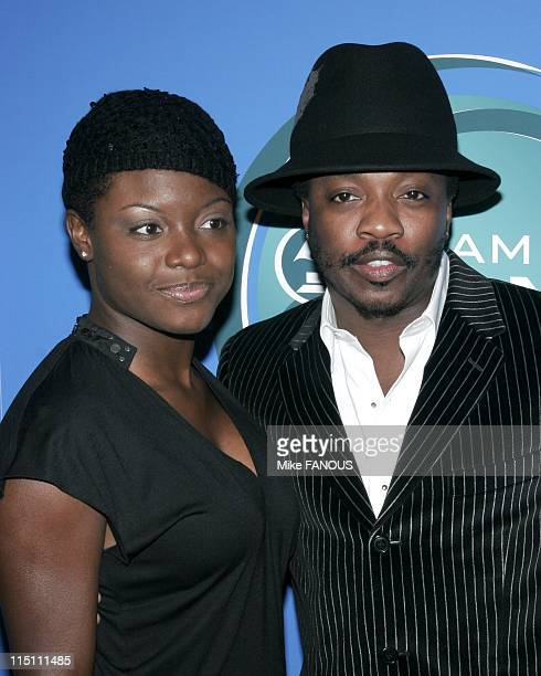Grammy Jam honors Stevie Wonder in Los Angeles United States on December 10 2005 Anthony Hamilton and wife at the Grammy Jam event honoring Stevie...