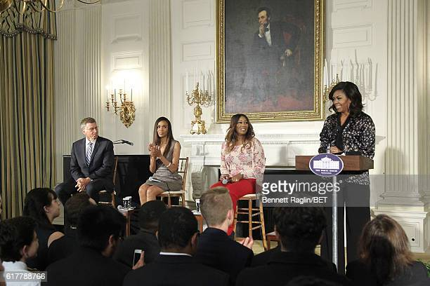 "Grammy Museum Executive Director Bob Santelli, music mentors Michelle Williams, Yolanda Adams, First Lady Michelle Obama attend ""An Obama..."