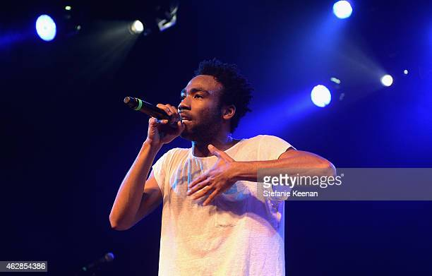 Grammy Nominated Recording Artist Childish Gambino performs onstage during Rolling Stone and Google Play event during Grammy Week at the El Rey...