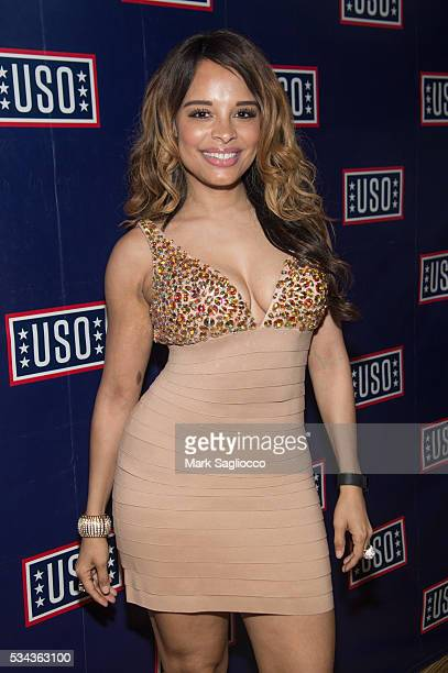 Grammy nominated singer Antonique Smith attends the Official 2016 Fleet Week KickOff at Hard Rock Cafe Times Square on May 25 2016 in New York City