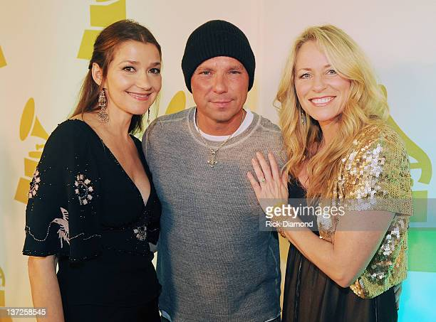 Grammy nominated song You and Tequilla Songwriters Matraca Berg and Deana Carter along with Recording Artist Kenny Chesney attend The Nashville...