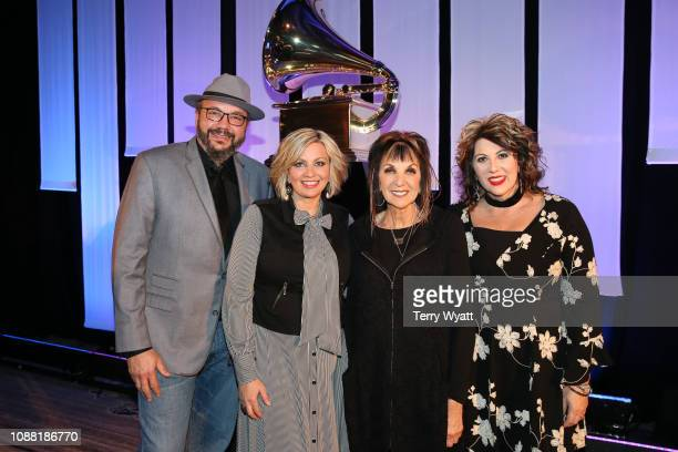 Grammy nominees Ben Isaacs Sonya Isaacs Yeary Lily Isaacs and Becky Isaacs Bowman of 'The Isaacs' attend the Nashville Chapter 61st Nominee...
