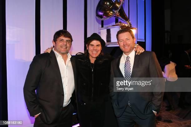 Grammy nominees Rhett Akins Ross Copperman and Ben Hayslip attend the Nashville Chapter 61st Nominee Celebration on January 24 2019 in Nashville...