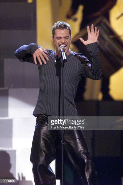 Grammy winner Ricky Martin performing on the 41st Annual Grammy Awards at the Shrine Auditorium in Los Angeles.Photo by Frank Micelotta/ImageDirect.