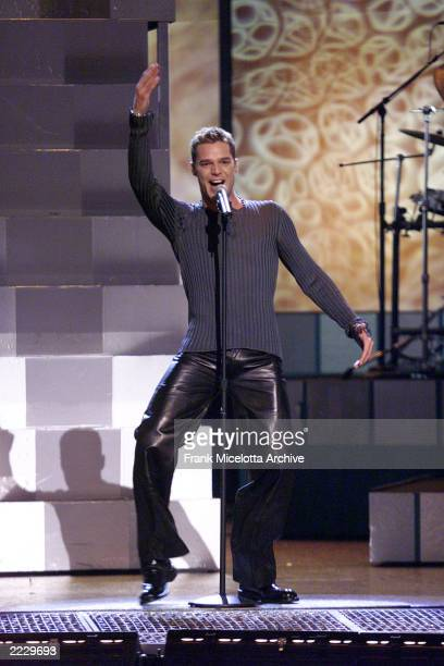 Grammy winner Ricky Martin performing on the 41st Annual Grammy Awards at the Shrine Auditorium in Los AngelesPhoto by Frank Micelotta/ImageDirect