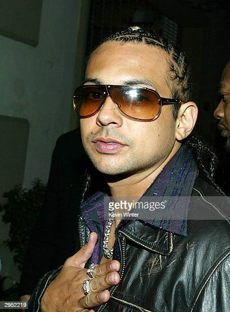 Grammy winner Sean Paul arrives at the Warner Music Group's PostGrammy party at Katana on February 8 2004 in West Hollywood California