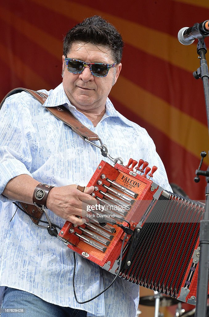 Grammy winner Wayne Toups of Wayne Troups & ZyDeCajun backstage during the 2013 New Orleans Jazz & Heritage Music Festival presented by Shell at Fair Grounds Race Course on April 26, 2013 in New Orleans, Louisiana.
