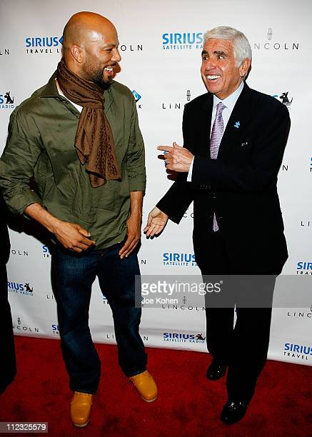 Grammy Winning HipHop Star Common and Sirius CEO Mel Karmazin arrives at Sirius Satellite Radio to KickOff The New York International Auto Show on...