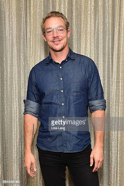 Grammy winning producer Diplo poses backstage during the Up Close Personal with Diplo event hosted by The Recording Academy Philadelphia Chapter at...